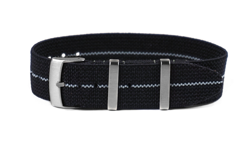 Elastic Single Pass Strap Black and Gray (18, 19, 20, 21 & 22 mm)