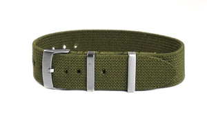 Elastic Single Pass Strap Khaki Green