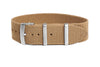 Elastic Single Pass Strap Khaki  (19 & 21 mm)