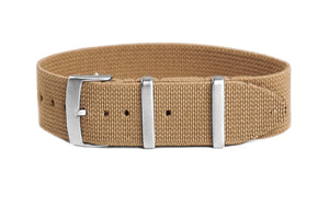 Elastic Single Pass Strap Khaki