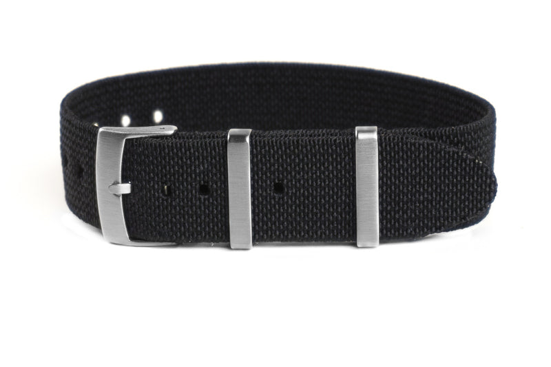 Elastic Single Pass Strap Black (18, 19, 21 & 24 mm)