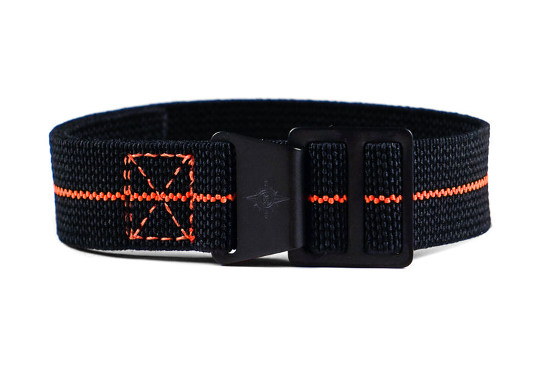 Paratrooper PVD Strap Black and Orange