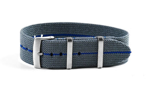 Elastic Single Pass Strap Gray and Blue (19 & 21 mm)