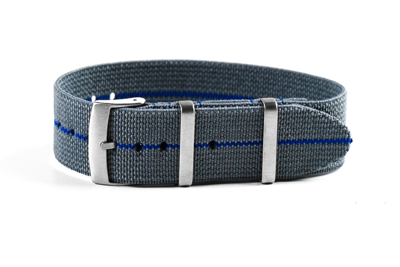 Elastic Single Pass Strap Gray and Blue (18, 19, 20, 21 & 22 mm)