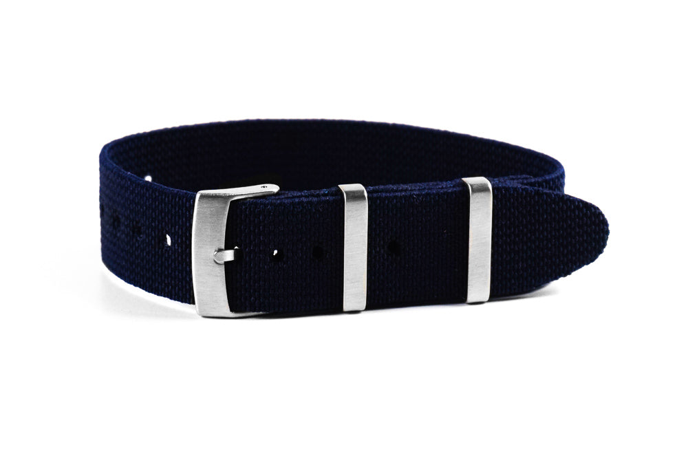 Elastic Single Pass Strap Navy (18, 19, 20, 21 & 22 mm)
