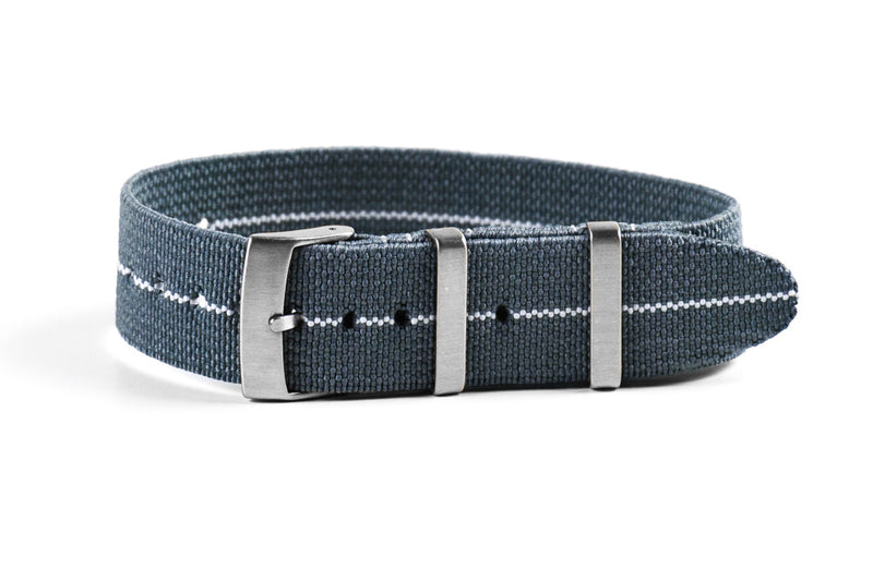 Elastic Single Pass Strap Gray and White (18 & 21 mm)