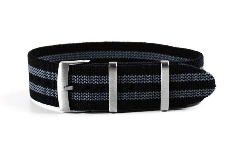 Elastic Single Pass Strap James Bond  (18, 19, 21 & 24 mm)
