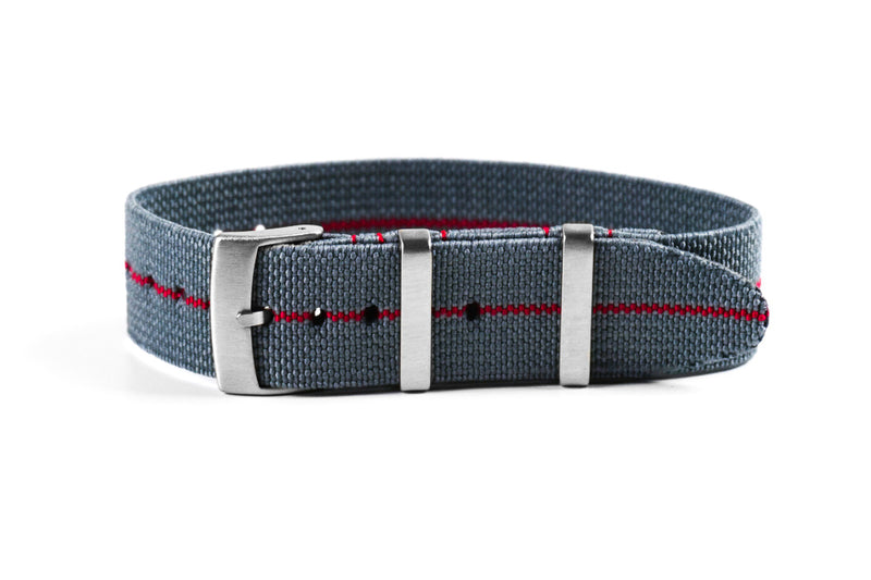 Elastic Single Pass Strap Gray and Red (19 & 21 mm)