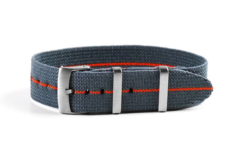 Elastic Single Pass Strap Gray and Orange (19 mm)