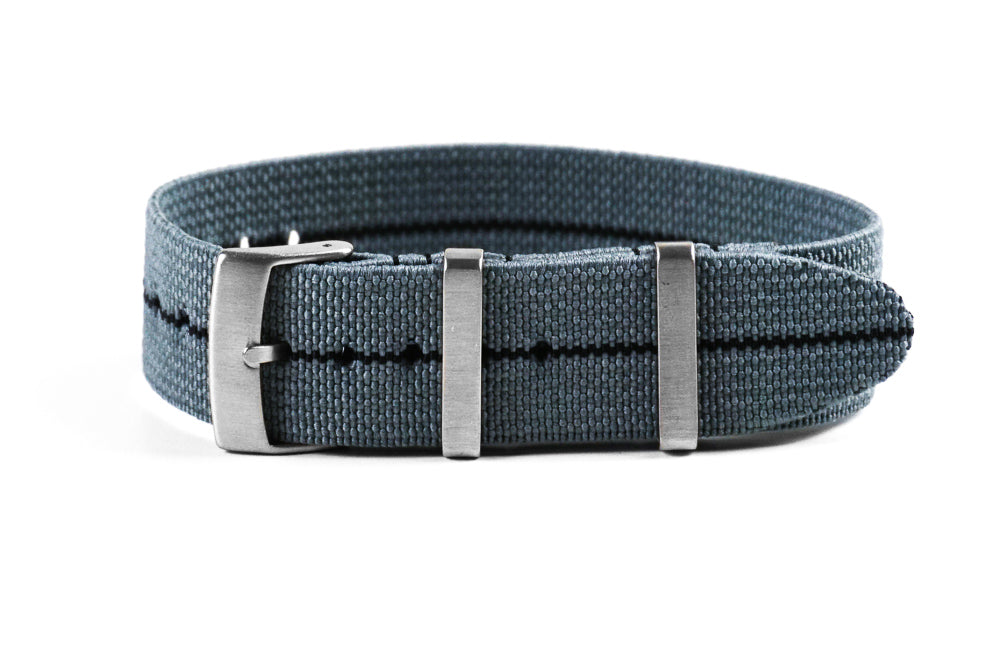 Elastic Single Pass Strap Gray and Black (18, 19, 20, 21 & 22 mm)