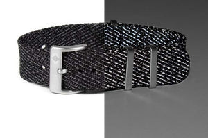"Deluxe NATO Strap ""The Black Reflector"""