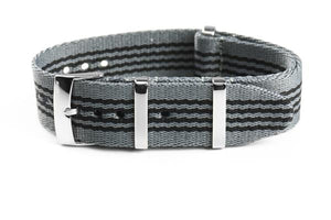 Deluxe Seat Belt NATO Gray and Black