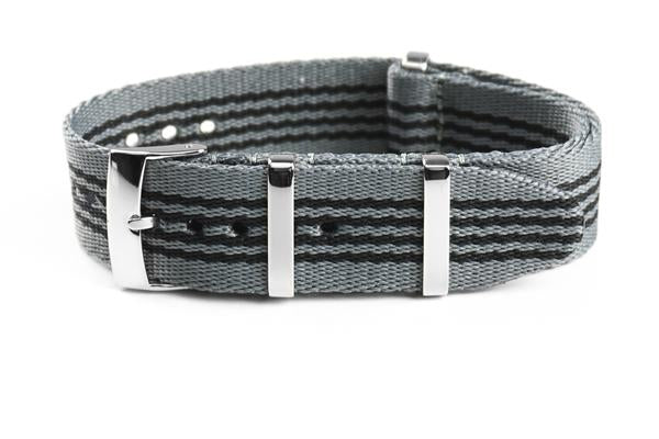 Deluxe Seat Belt NATO Gray and Black (20 mm)