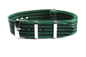 Deluxe Seat Belt NATO Green and Black (20 mm)
