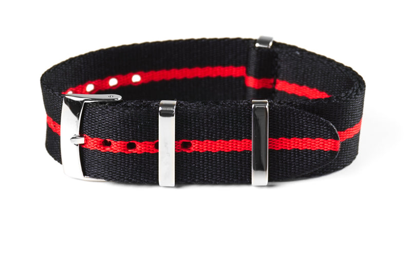Deluxe Seat Belt NATO Scuba Red  (22 mm)