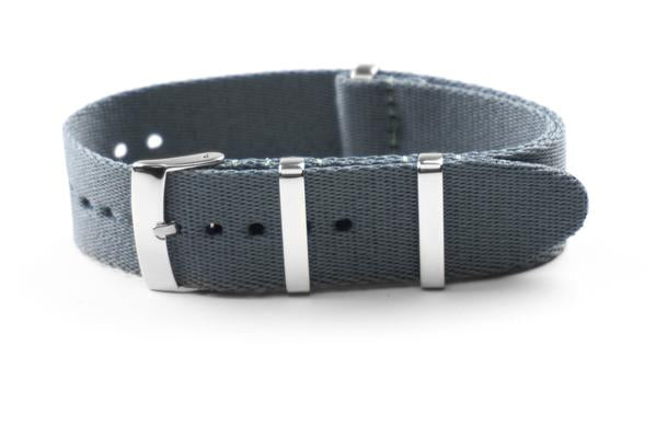 Deluxe Seat Belt NATO Gray (18, 19, 20, 21 & 22 mm)