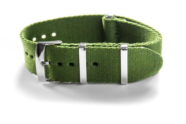 Deluxe Seat Belt NATO Khaki green (18, 20 & 22 mm)