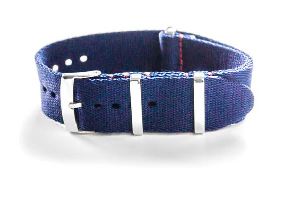 Deluxe Seat Belt NATO Navy with Red stitching (20 & 22 mm)