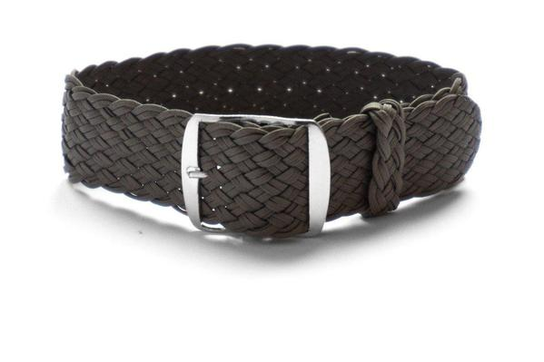 Premium Double Woven Perlon Strap Dark Gray