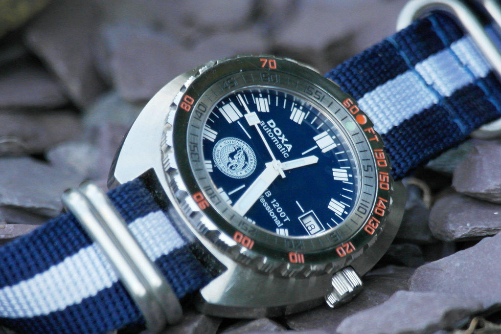 Zulu strap SS 5-ring Navy and White - Cheapest NATO Straps  - 3