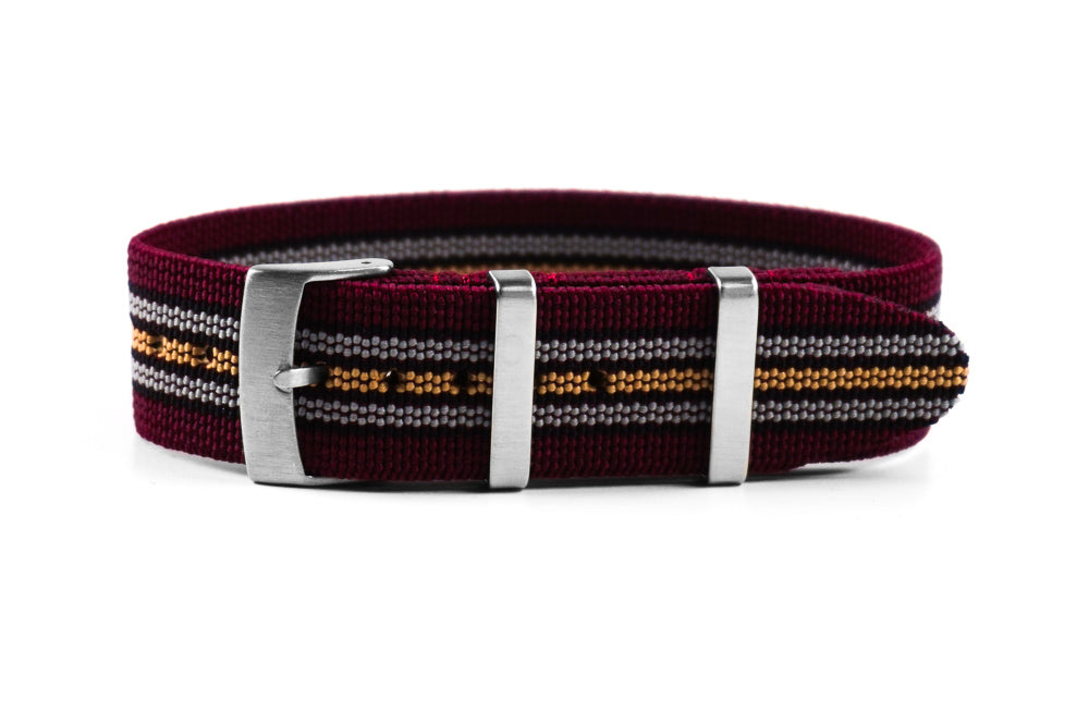 Elastic Single Pass Strap Burgundy Baron (22 mm)