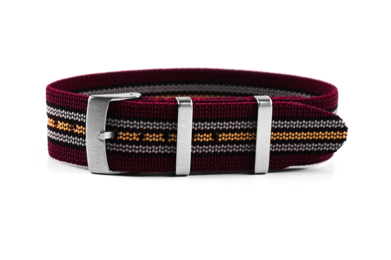 Elastic Single Pass Strap Burgundy Baron (20 & 22 mm)