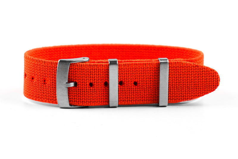 Elastic Single Pass Strap Orange  (18, 19, 20, 21 & 22 mm)