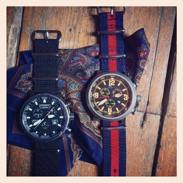 Extra Long Premium NATO strap Navy and Red - Cheapest NATO Straps  - 5
