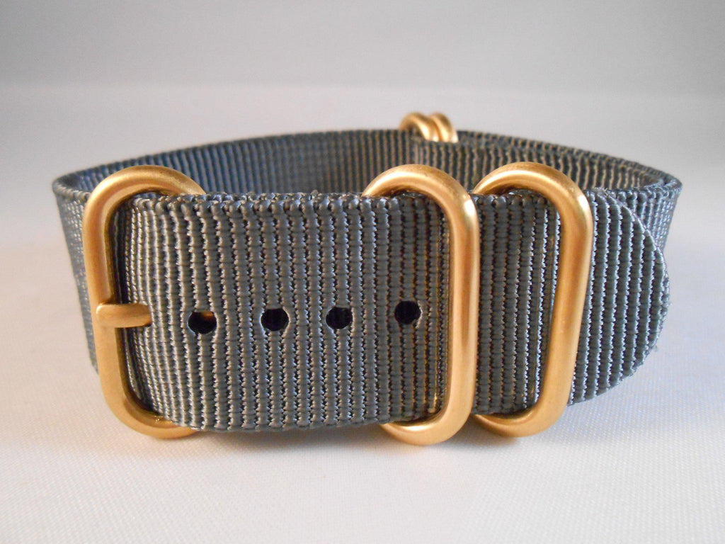 Gold Zulu strap 5-ring Gray - Cheapest NATO Straps  - 3
