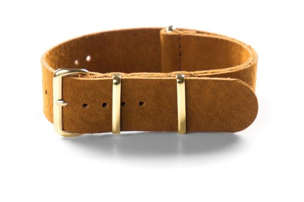 Gold Suede NATO Strap Brown