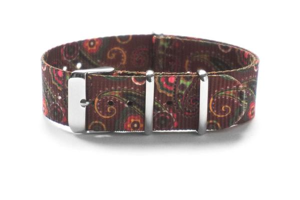 Brown Paisley NATO strap
