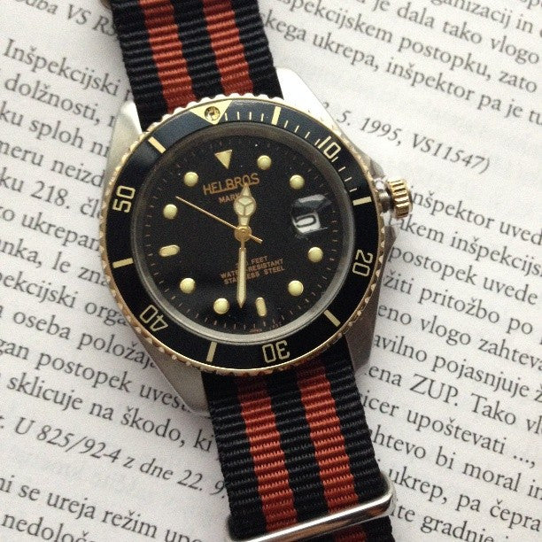 NATO Regimental Strap Black and Bronze - Cheapest NATO Straps  - 3