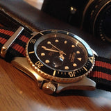 NATO Regimental Strap Black and Bronze - Cheapest NATO Straps  - 4