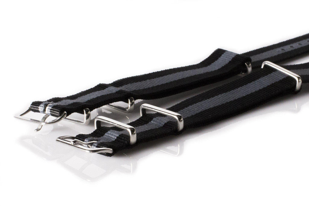 NATO Regimental Strap Black and Gray - Cheapest NATO Straps  - 2