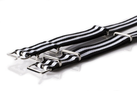 NATO Regimental Strap Black and White - Cheapest NATO Straps  - 2