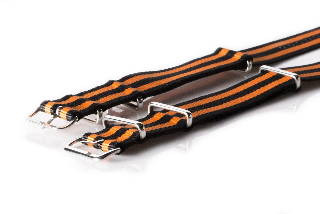 NATO Regimental Strap Black and Orange - Cheapest NATO Straps  - 2