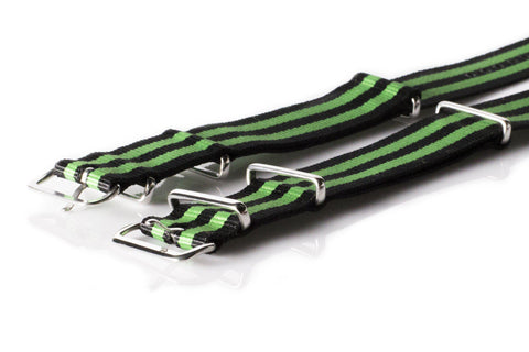 NATO Regimental Strap Black and Green - Cheapest NATO Straps  - 2