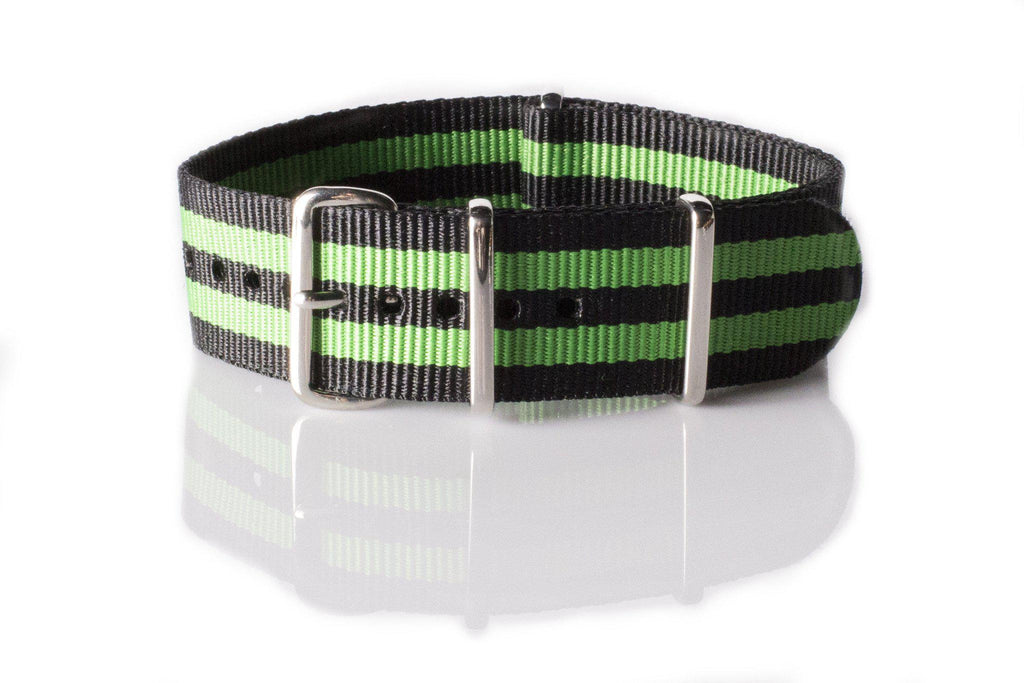 NATO Regimental Strap Black and Green - Cheapest NATO Straps  - 1
