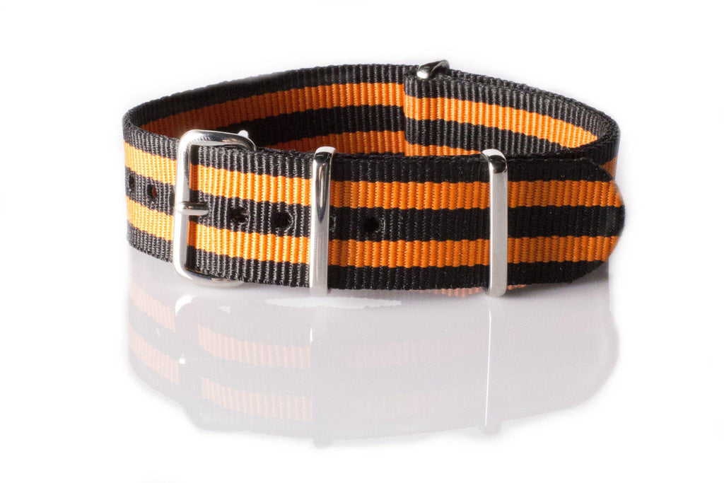 NATO Regimental Strap Black and Orange - Cheapest NATO Straps  - 1