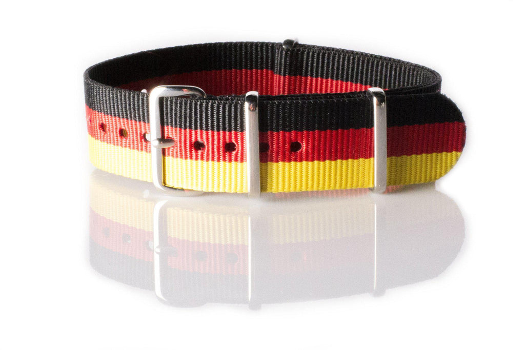 NATO Regimental Strap Black, Red and Yellow - Cheapest NATO Straps  - 1