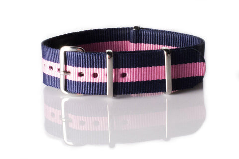 NATO Regimental Strap Blue and Pink - Cheapest NATO Straps  - 1