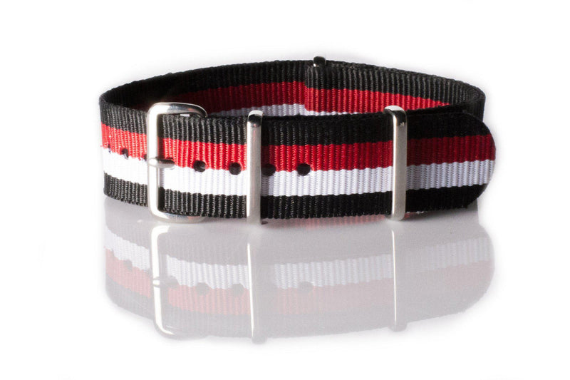 NATO Regimental Strap Black, Red, White and Black - Cheapest NATO Straps  - 1