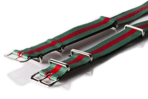 NATO Regimental Strap Green and Red - Cheapest NATO Straps  - 2