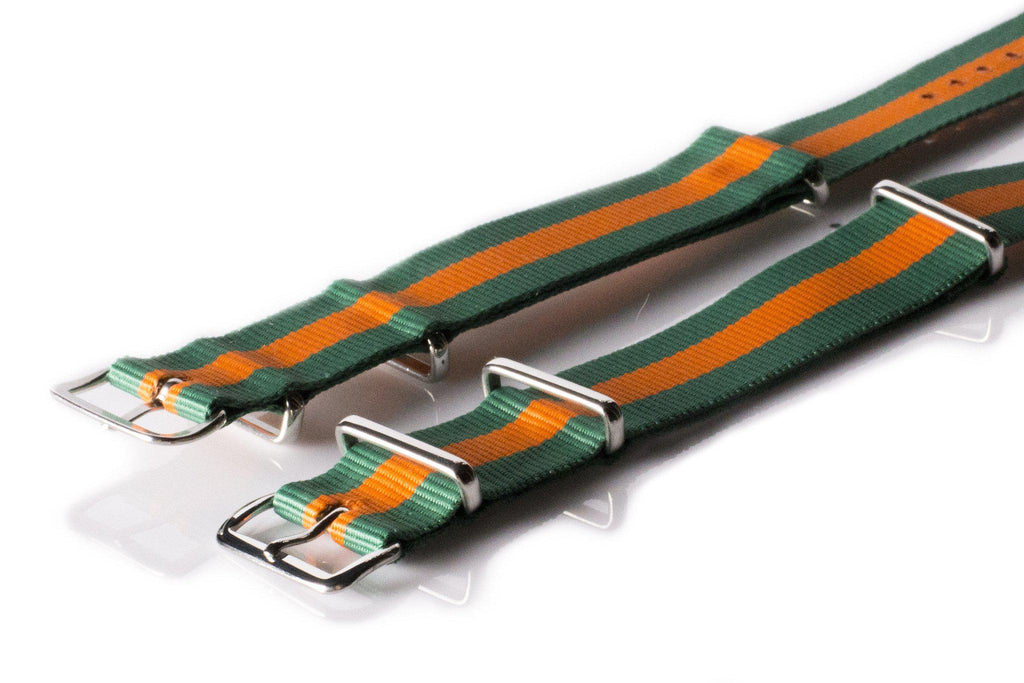 NATO Regimental Strap Green and Orange - Cheapest NATO Straps  - 2