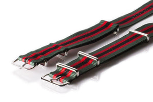 NATO Regimental Strap Green, Red and Black - Cheapest NATO Straps  - 2