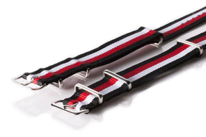 NATO Regimental Strap Black, Red, White and Black - Cheapest NATO Straps  - 2