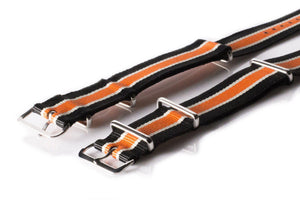 NATO Regimental Strap Black, White and Orange - Cheapest NATO Straps  - 2