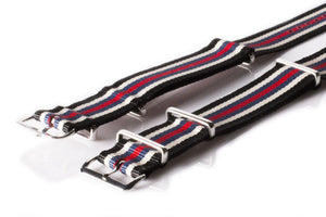 NATO Regimental Strap Black, Beige, Blue and Red - Cheapest NATO Straps  - 2