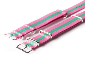 NATO Regimental Strap Pink and Green - Cheapest NATO Straps  - 2