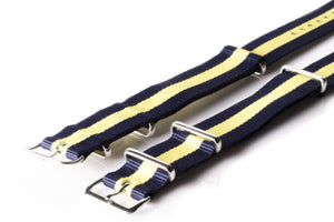 NATO Regimental Strap Navy and Yellow - Cheapest NATO Straps  - 2